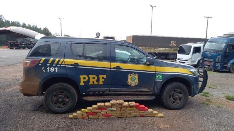 PRF prende traficante com mais de 50 quilos de drogas